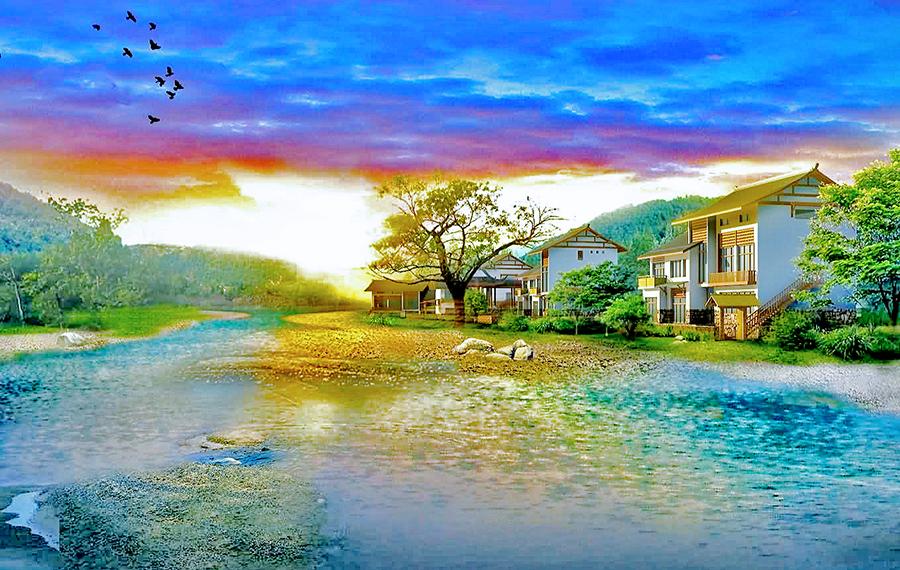 Пейзаж на берегу