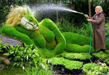 Девушка растение